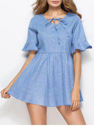 Bell Sleeve Skater Mini Dress