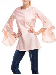 Chiffon Bell Sleeve Tunic Top
