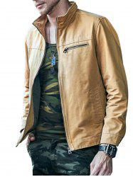 Side Pocket Zip Up Military Jacket