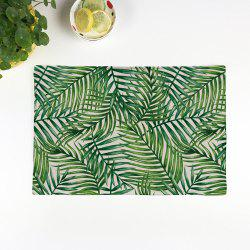 Fern Plant Heat Insulation Linen Placemat - GREEN
