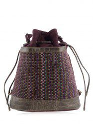 Linen Ethnic Convertible Backpack