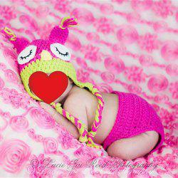 Knit Owl Baby Photography Chapeau et couches -