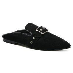 Eyelets Buckle Strap Slippers