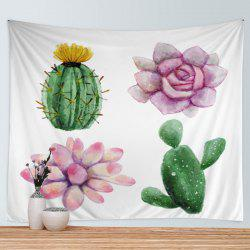 Succulent Plants Print Tapestry Wall Hanging Art Decoration