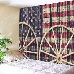 Wall Art Distressed American Flag Tapestry
