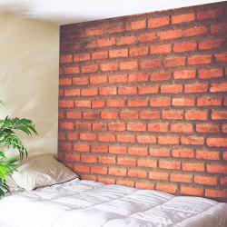 Brick Wall Print Polyester Fabric Throw Tapestry