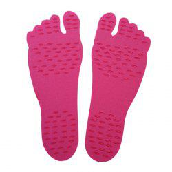 Foot Pads Feet Sticker For Summer Beach Stick On Soles Flexible Feet Protection - RED M