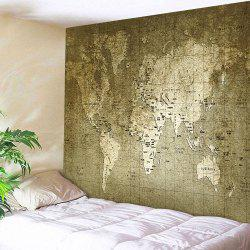 Retro World Map Wall Hanging Tapestry