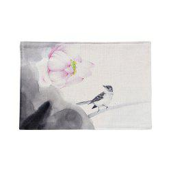 Chinese Ink Painting Linen Rectangle Placemat - COLORMIX