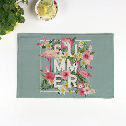 Table Decorative Flamingo Pattern Linge de maison Placemat - Vert clair Texture B