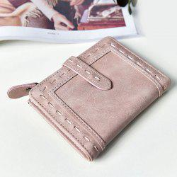Stitching Bifold Small Wallet