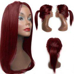 Free Part Tail Adduction Long Straight Lace Front Synthetic Wig -