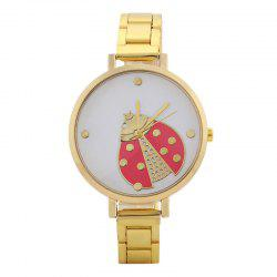 Ladybug Face Alloy Strap Quartz Watch