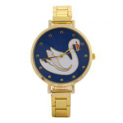 Alloy Strap Swan Face Quartz Watch