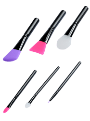 6Pcs Face Mask Silicone Makeup Brushes Kit