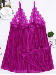Plus Size Lace Sheer Cami Babydoll