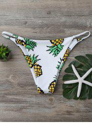 Pineapple Print High Cut Swim Bottom