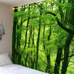 Home Decor Waterproof Forest Wall Hanging Tapestry - GREEN