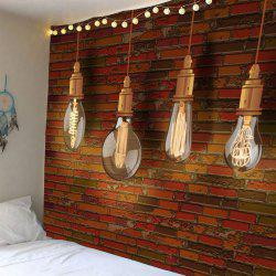 Waterproof Bulb Brick Wall Art Tapestry -