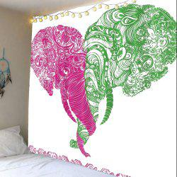 Floral Elephant Print Wall Art Tapestry