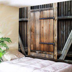 Country Wall Hanging Wood Door Tapestry