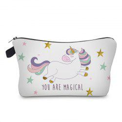 Unicorn Print Makeup Bag -