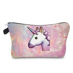 Unicorn Print Makeup Bag - PEARL PURPLE