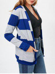 Stylish Broad Striped Long Sleeve Cardigan For Women -