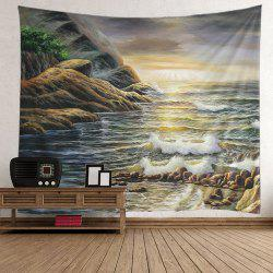 Home Decor Beach Mountain Sunrise Wall Tapestry -