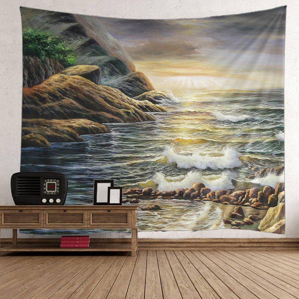 Buy Home Decor Beach Mountain Sunrise Wall Tapestry