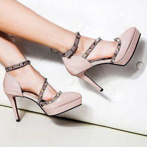 Shop Studded Pointed Toe High Heel Pumps
