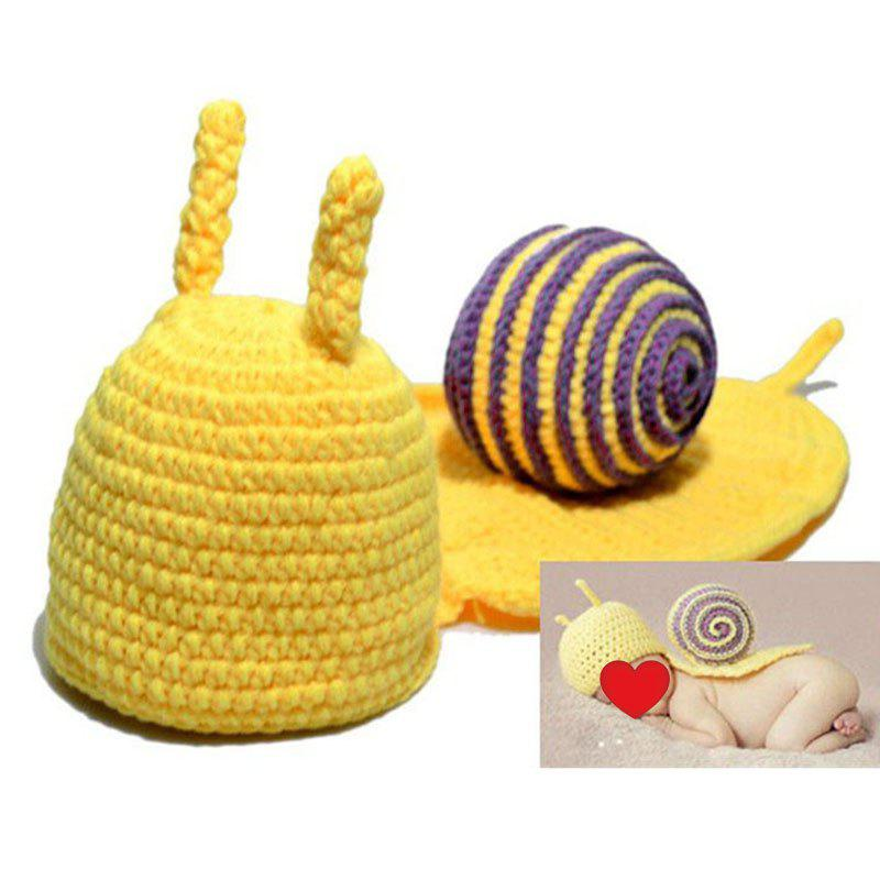 Affordable Knitted Cartoon Snail Shape Baby Hooded Blanket