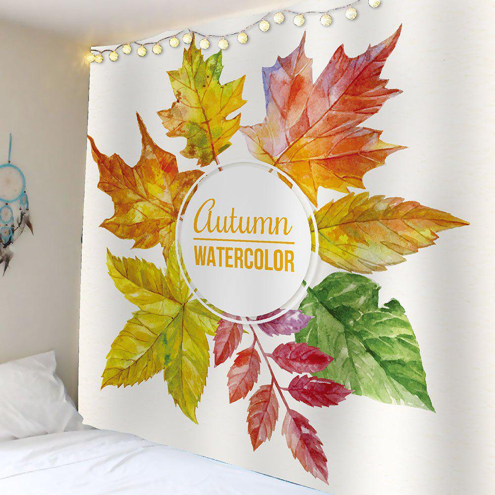 Colorful W59 Inch * L59 Inch Watercolor Maple Leaf Waterproof Wall ...