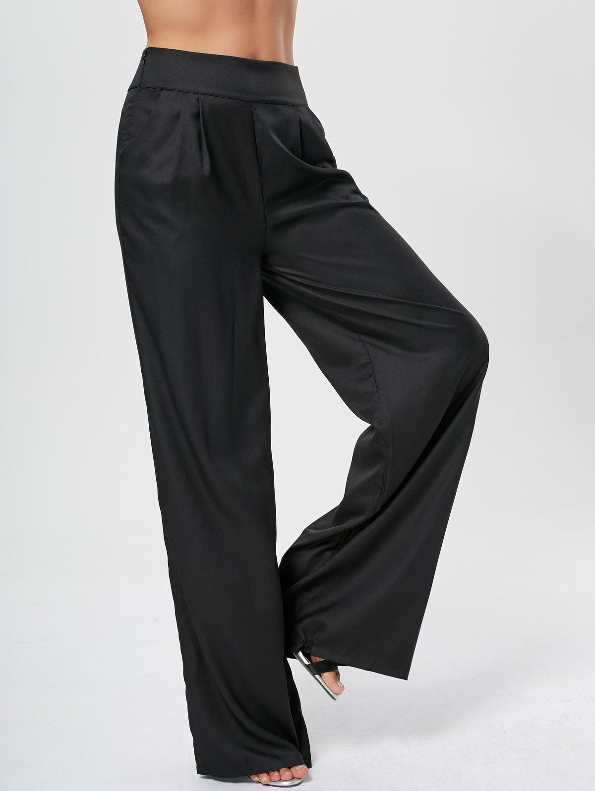 Cheap High Waisted Wide Leg Pants