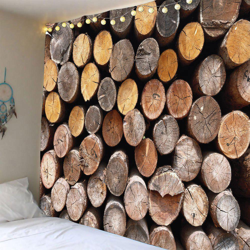 Home Decor Round Wood Print Waterproof Wall TapestryHOME<br><br>Size: W79 INCH * L79 INCH; Color: WOOD; Style: Vintage; Material: Polyester; Feature: Removable,Washable; Shape/Pattern: Print; Weight: 0.4000kg; Package Contents: 1 x Tapestry;