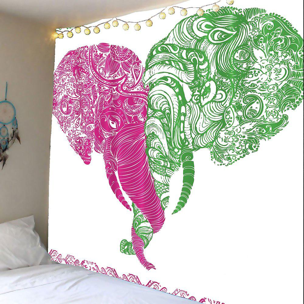 Shop Floral Elephant Print Wall Art Tapestry