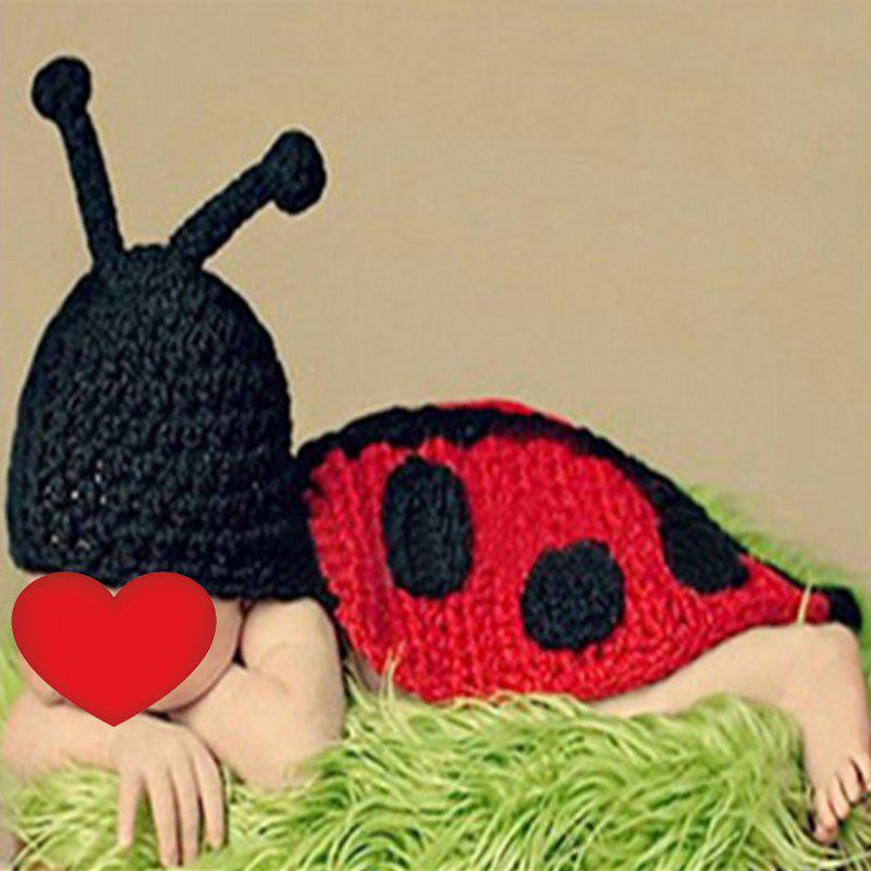 Fashion Baby Photography Knitted Beetle Hooded Blanket