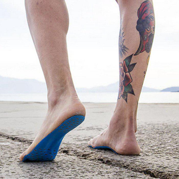 Foot Pads Feet Sticker For Summer Beach Stick On Soles Flexible Feet ProtectionHOME<br><br>Size: L; Color: BLUE; Type: Casual Shoes; Gender: Unisex; Closure Type: Elastic band; Outsole Material: Rubber; Upper Material: Cotton Fabric; Weight: 0.0250kg; Package Size ( L x W x H ): 30.00 x 11.00 x 0.04 cm / 11.81 x 4.33 x 0.02 inches; Package Contents: 1 x Feet Pads (Pair);