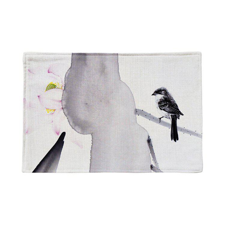 Outfit Chinese Ink Painting Linen Rectangle Placemat