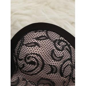 Lace Push Up Bandeau Bra - BLACK 80A