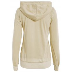 Simple Hooded Long Sleeve Pocket Design Women's Hoodie -