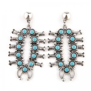 Statement Faux Turquoise Earrings