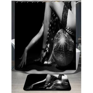Long Legs Printed Shower Curtain and Rug