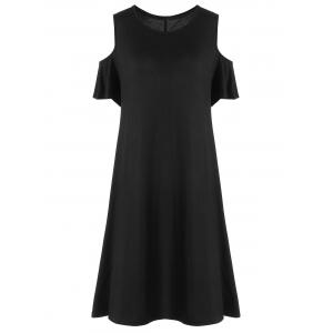 Plus Size Cold Shoulder T Shirt Dress