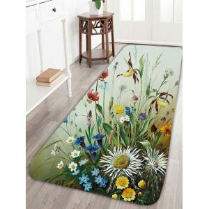 Coral Fleece Bird Floral Print Rug