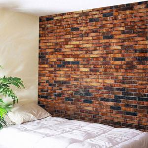 Brick Wall Print Tapestry Wall Hangings Art Decoration - Brick-red - W79 Inch * L59 Inch