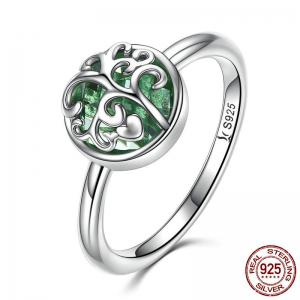 Heart Tree of Life Sterling Silver Ring - Silver - 8