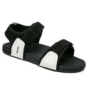 Hook and Loop Closure Sport Beach Sandals - Black White - 40