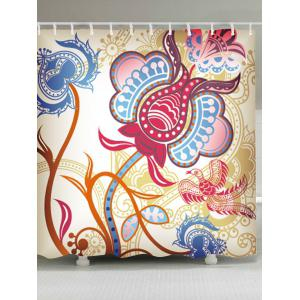 Water Resistant Fabric Ethnic Art Shower Curtain
