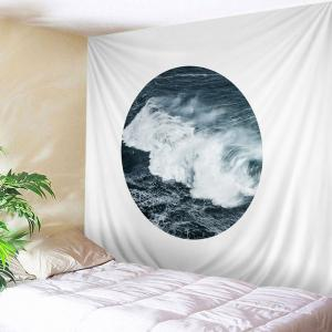 Sea Wave Print Tapestry Wall Hanging Art Decoration